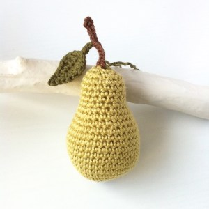Pear Ornament in pale green