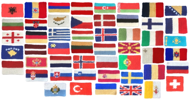 Crochet European Flags