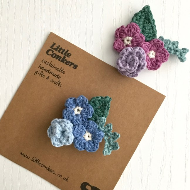 Crocheted Brooches Floral Bouquet Brooch Crochet Flowers