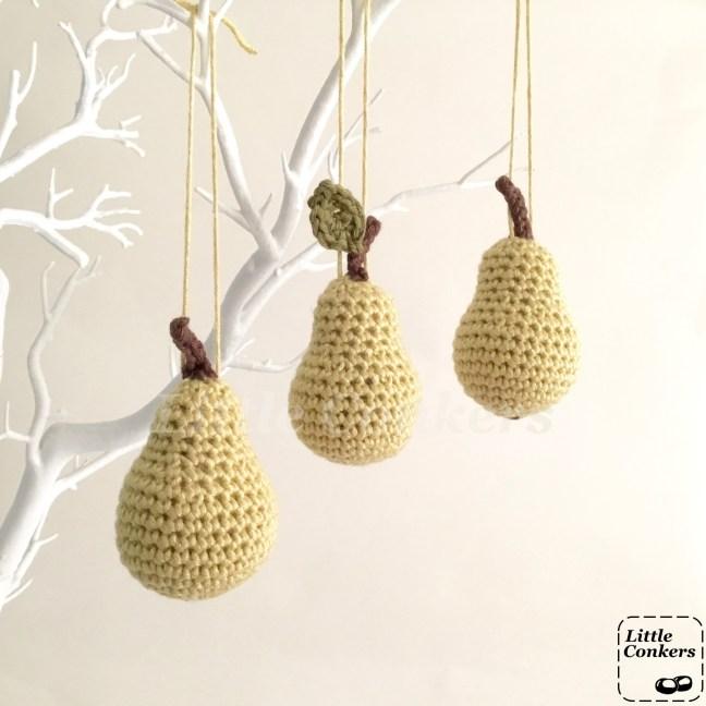 Hanging Mini Pear Ornaments