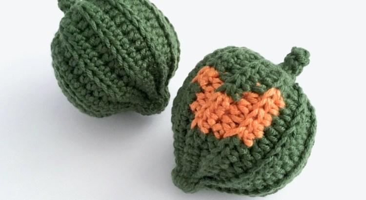 Crocheted Acorn Squash