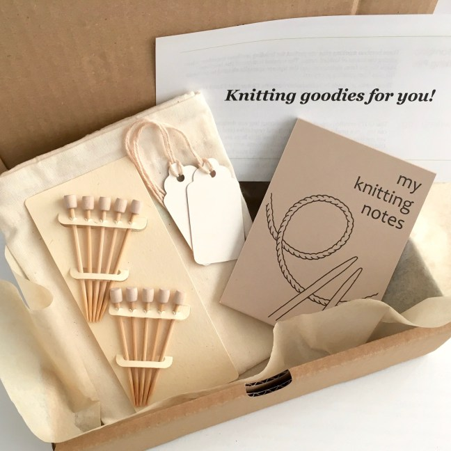 Eco-friendly Knitting Gift Set Contents