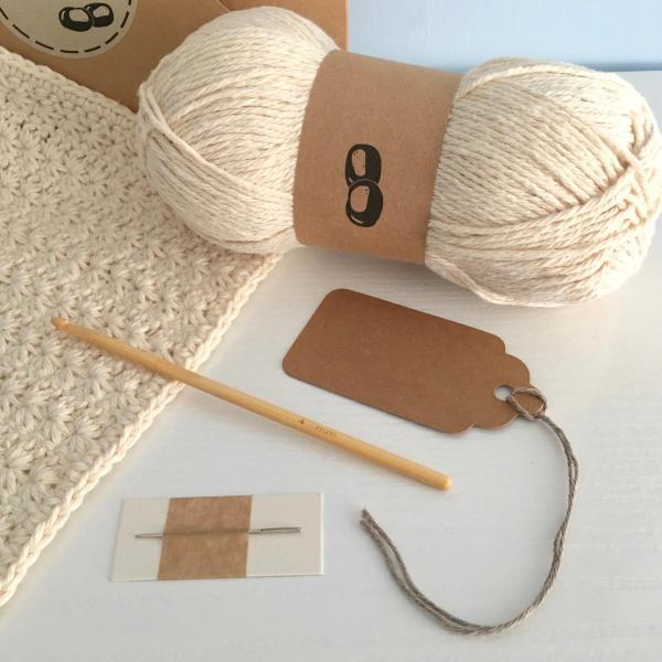 Stitch Dishcloth Crochet Kit