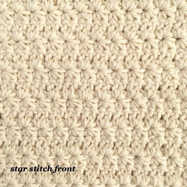 Crochet star stitch reverse