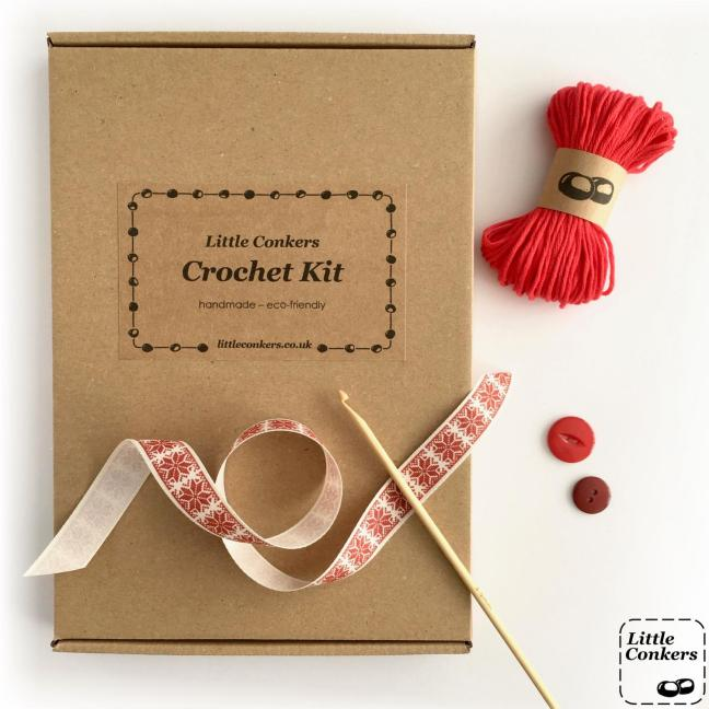 Eco-friendly Christmas Stocking Crochet Kit