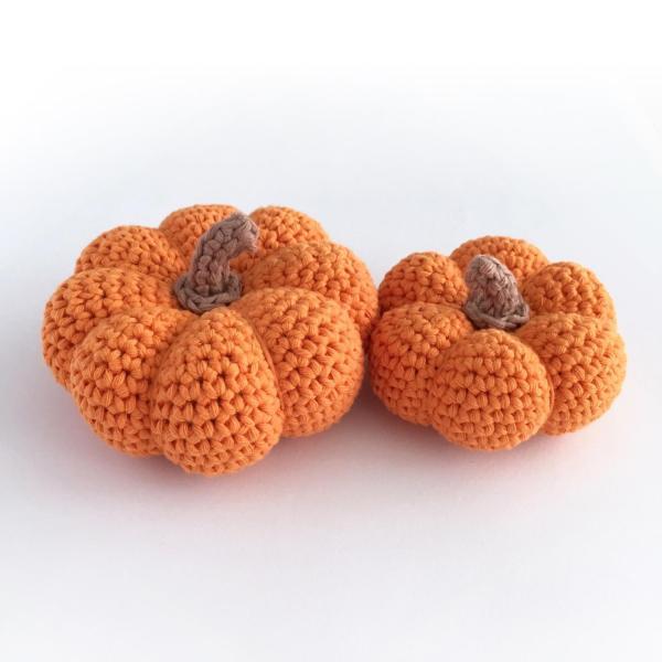 Two Pumpkin Crochet Kit by Little Conkers