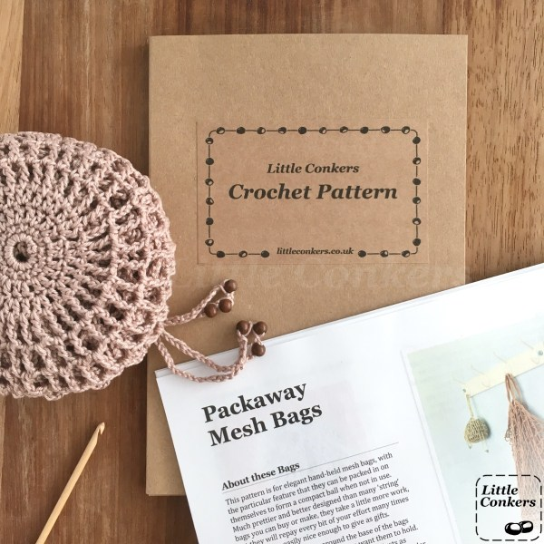Crochet bag pattern by Little Conkers