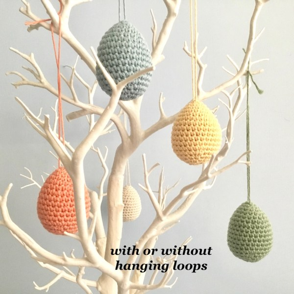 Hanging Pastel Egg Decorations on a twig tree