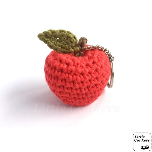 Crocheted Apple Key Ring
