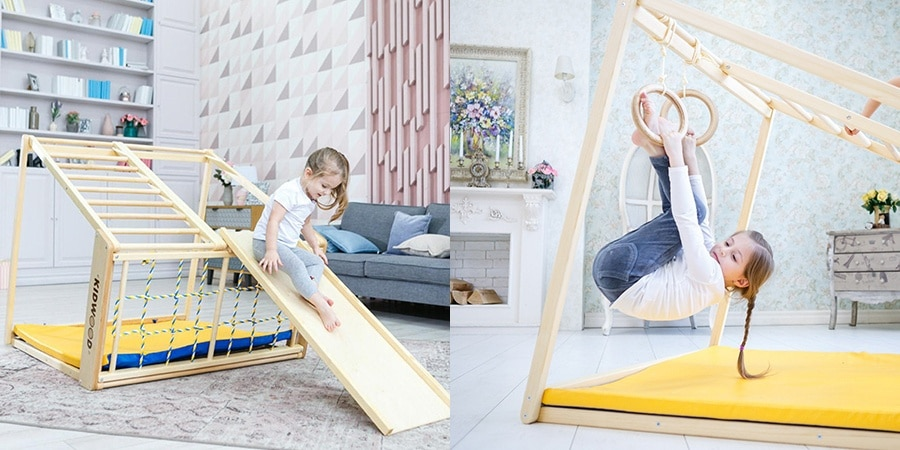 kidwood indoor game set climb slide