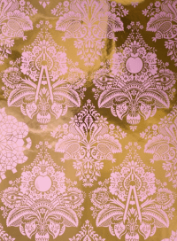 Fruits of Design Damask Wallpaper | Little Crown Interiors