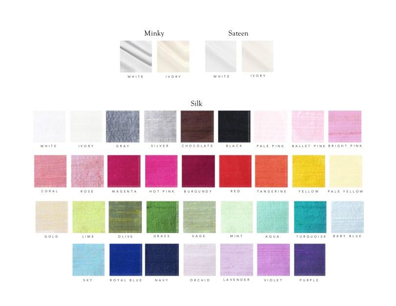 Custom Crib Bedding Color Options