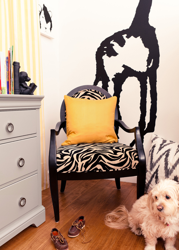 black grey kids room