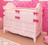 White & Hot Pink Crib Bedding Set | Little Crown Interiors