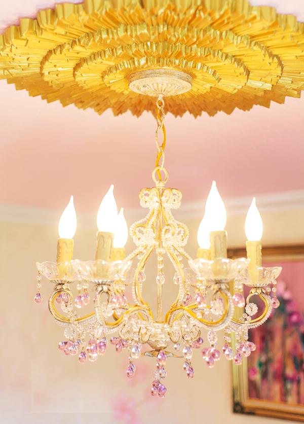 Nursery Crystal Chandelier | Little Crown Interiors