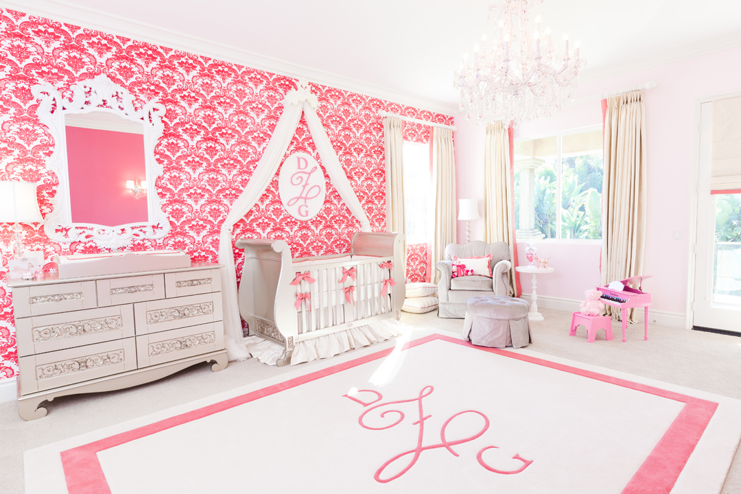 pink and silver nursery
