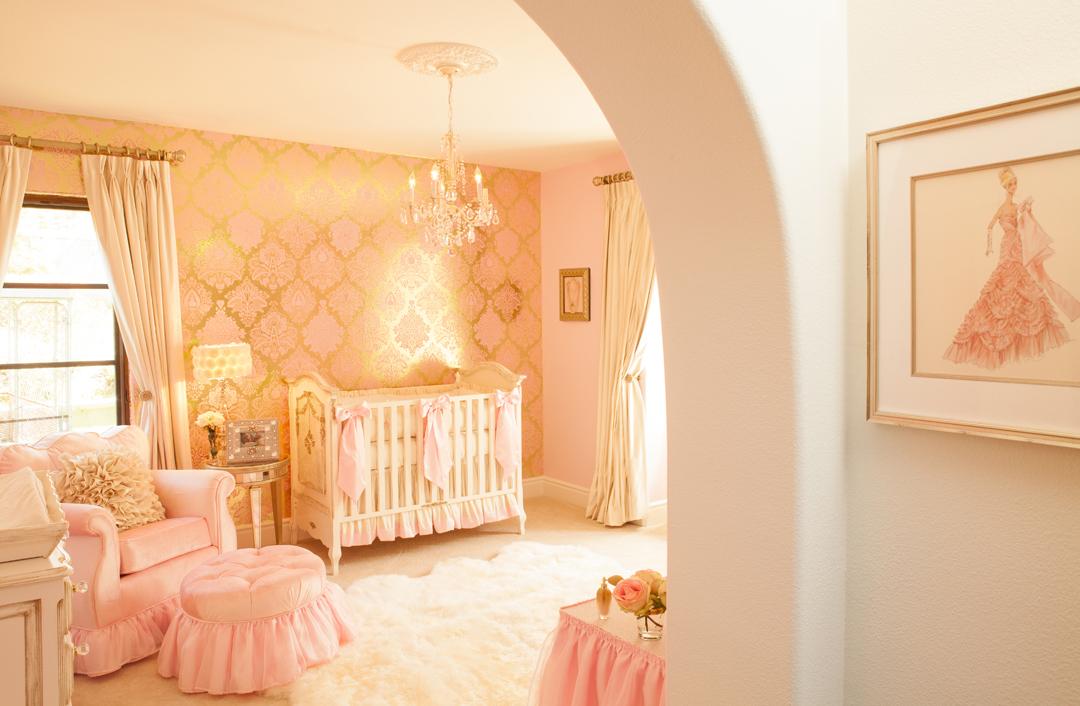 pink gold nursery
