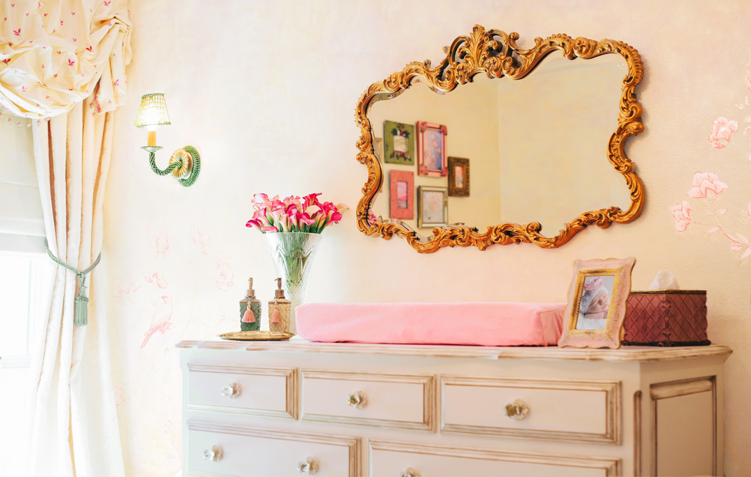Pink Traditional Nursery by Little Crown Interiors