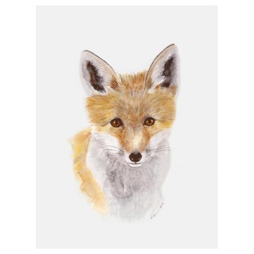 Baby Fox Art Canvas Little Crown Interiors