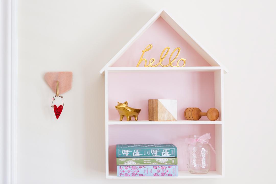 Pink Nursery Wall Decor | Little Crown Interiors
