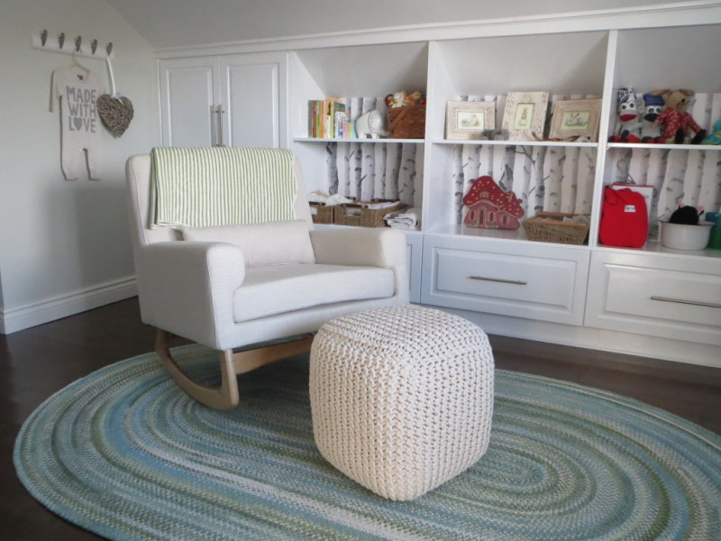Braided Green Nursery Rug | Little Crown Interiors for Project Nursery