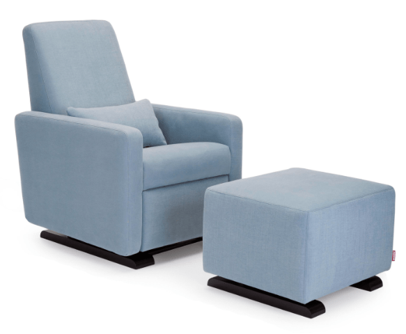 Grano Modern Glider Recliner with Ottoman | Little Crown Interiors