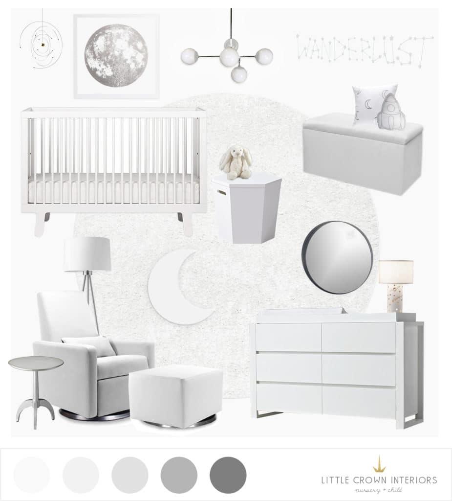 All White Nursery E-Design   Little Crown Interiors