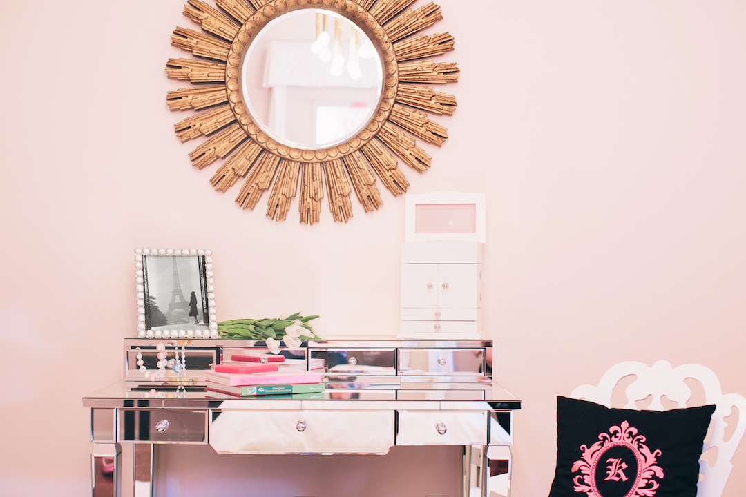 Girl's Pink Bedroom Design by Little Crown Interiors