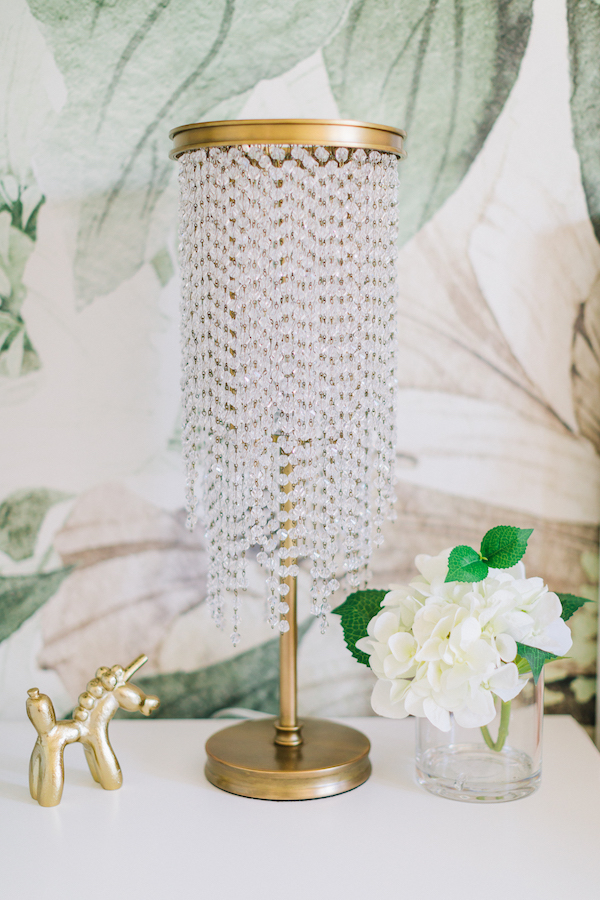 Gold Crystal Lamp | Little Crown Interiors