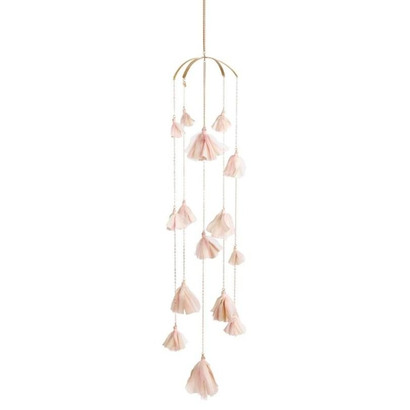 Pink and Blush Elegant Tassel Mobile