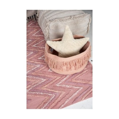 Storage Basket with Fringes in Nude