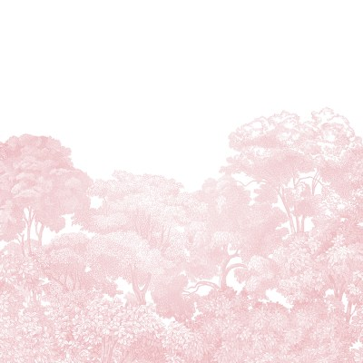 Pink Forest Wallpaper | Little Crown Interiors
