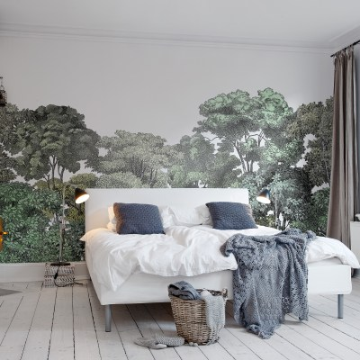 Green Tree Forest Wall Mural | Little Crown Interiors Shop
