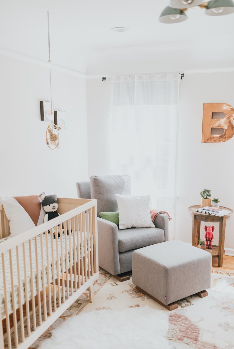 Eclectic Modern Nursery Design   Little Crown Interiors
