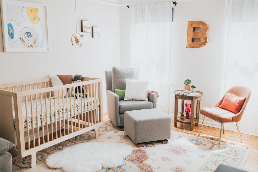 Eclectic Modern Nursery Design | Little Crown Interiors