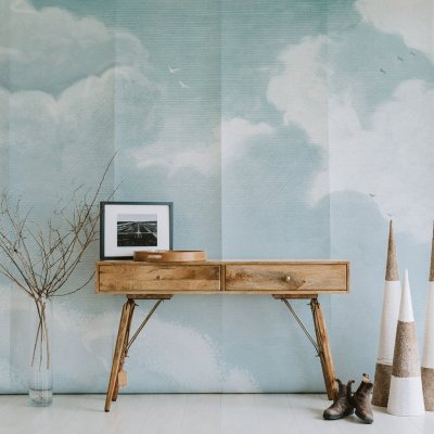 Cloudy Sky Wall Mural | Little Crown Interiors Shop