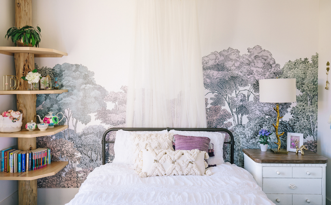 Lavender Girl's Bedroom in Newport Beach by Little Crown Interiors