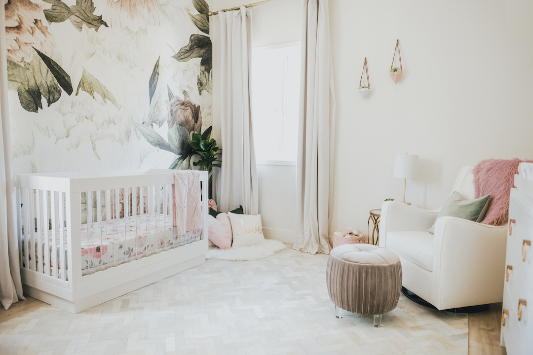 Jessi Malay's Floral Nursery by Little Crown Interiors