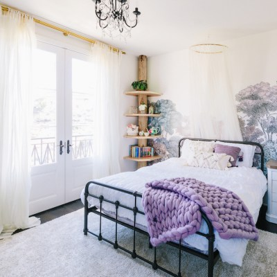Lavender girl's bedroom design by Little Crown Interiors