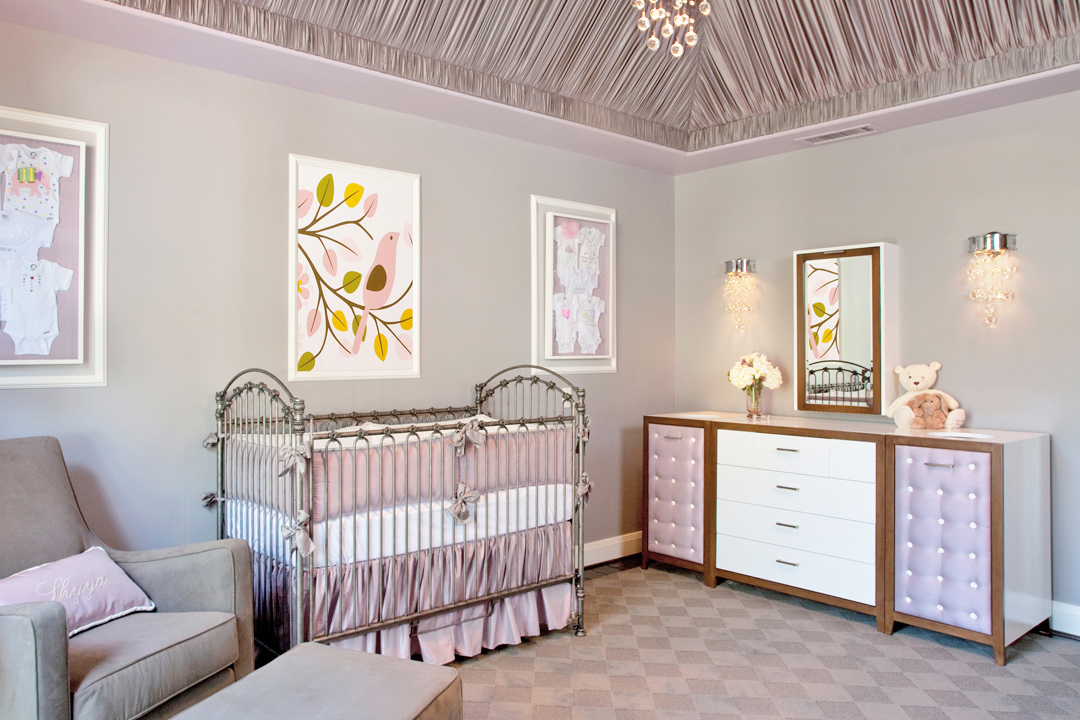 Gray and lavender nursery