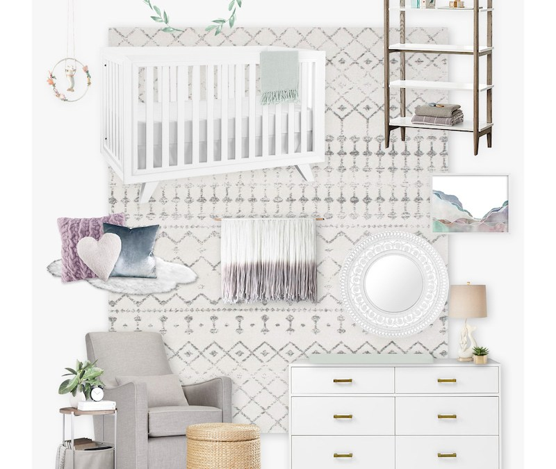 A Lavender Bohemian Girl's Nursery E-Design Reveal