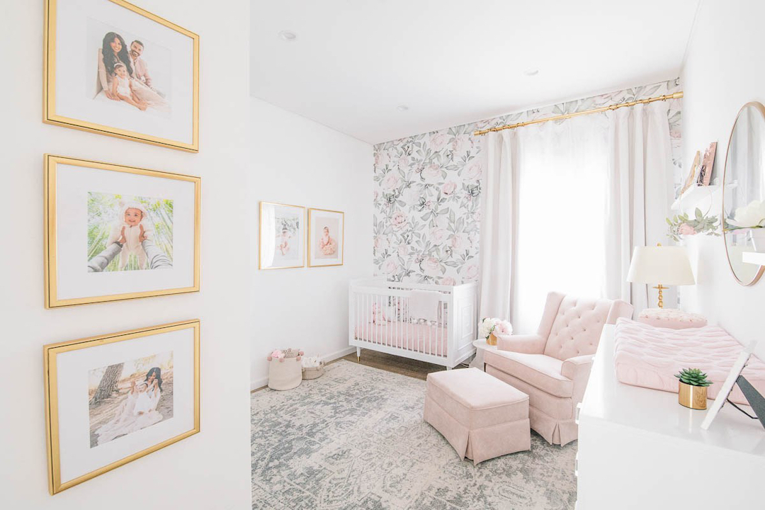 Blush Floral Nursery by Little Crown Interiors