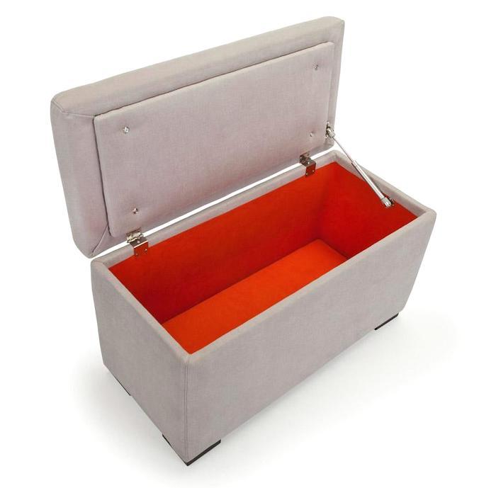Modern storage bench inside
