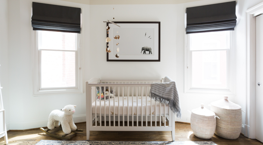 Black and white nursery design by Residents Understood