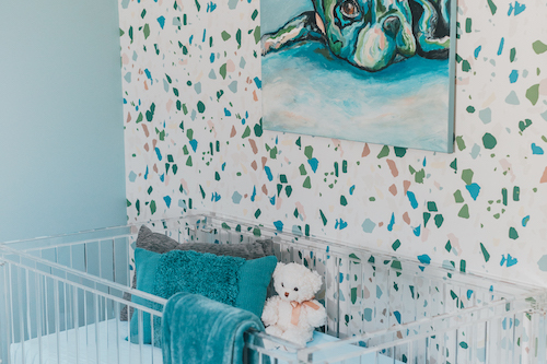 Glam Blush Nursery Design by Little Crown Interiors