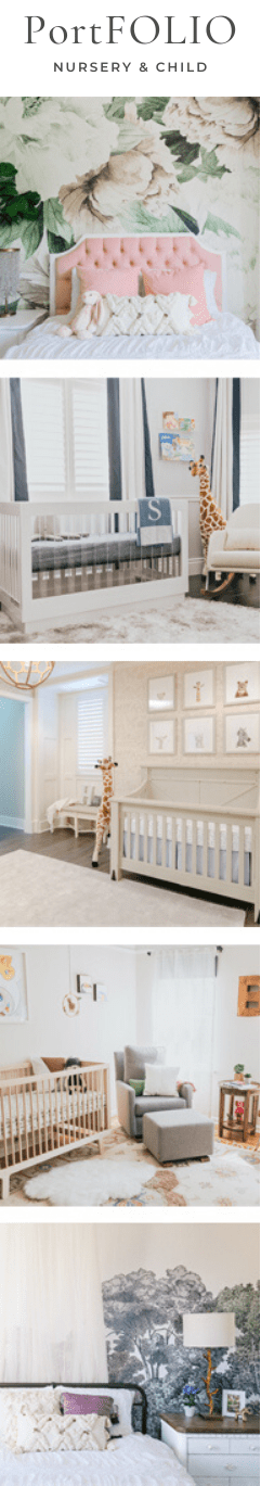 Nursery design portfolio by Little Crown Interiors