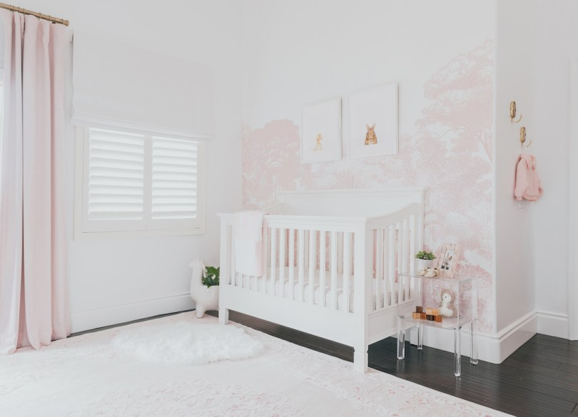 Pink Nature Nursery by Little Crown Interiors