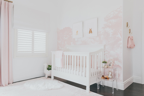 Navy Modern Nursery by Little Crown Interiors