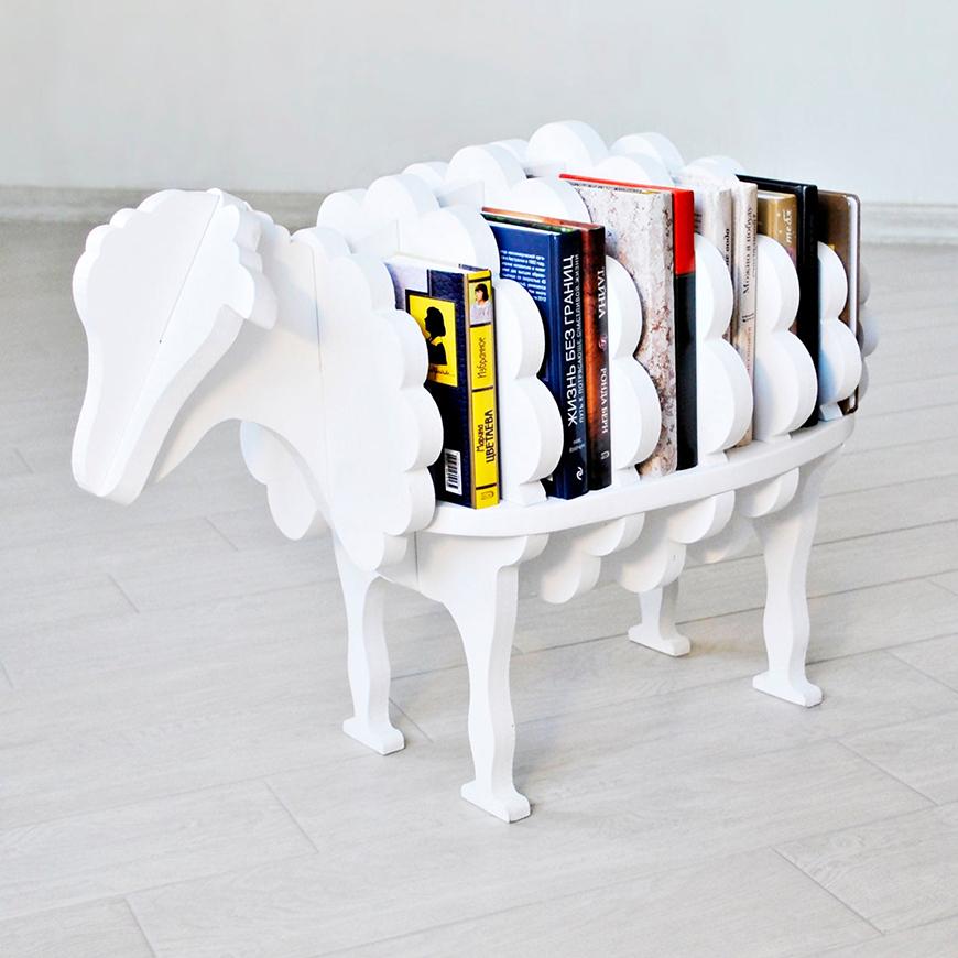 Sheep Bookcase Etsy