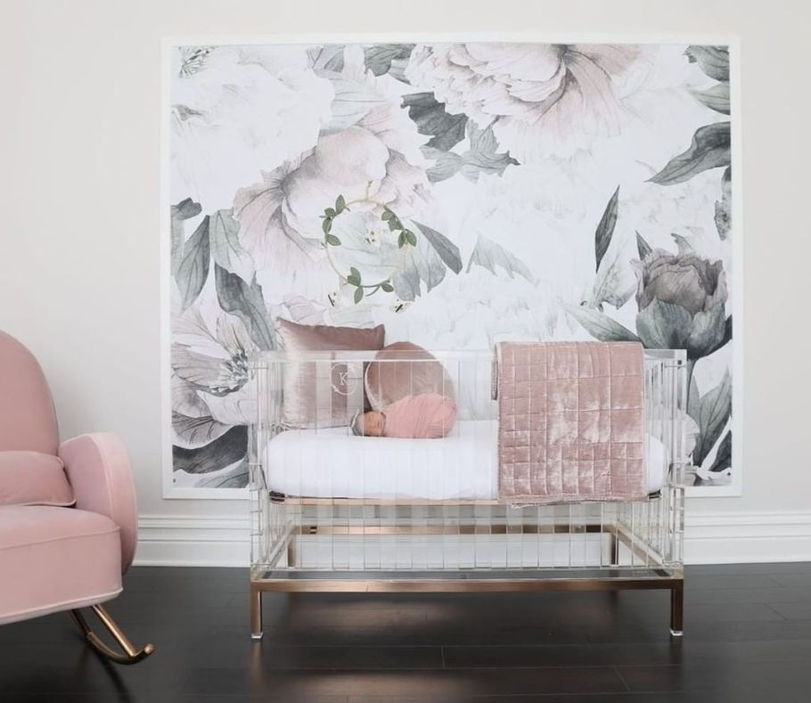 Nursery Trends of 2019: Floral Wall Mural